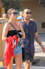 CHRISSY TEIGEN Out and About in Saint Tropez 08/26/2017