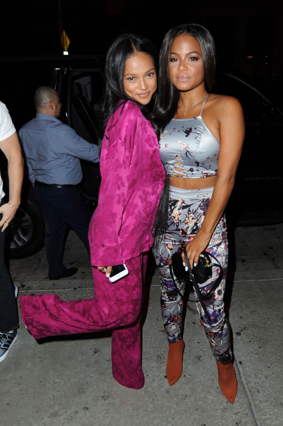 CHRISTINA MILIAN and KARRUECHE TRAN at Catch LA in West Hollywood 08/03/2017