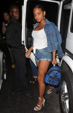 CHRISTINA MILIAN Arrives at Catch LA in West Hollywood 08/08/2017