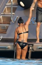 CHRISTINA MILIAN in Bikini at a Yacht in St Tropez 08/24/2017