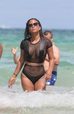 CHRISTINA MILIAN in Bikini on the Beach in Miami 08/19/2017