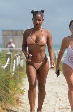 CHRISTINA MILIAN in Bikini on the Beach in Miami 08/20/2017