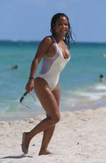 CHRISTINA MILIAN in Swimsuit at a Beach in Miami 08/21/2017