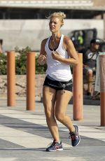 CLAIRE DENIS Out Jogging in Santa Monica 08/07/2017