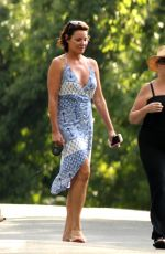 COUNTESS LUANN DE LESSEPS Walks Her Dog Out in Hamptons 08/23/2017