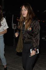 DAKOTA JOHNSON Leaves No Name Bar in West Hollywood 08/29/2017