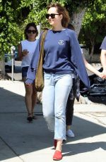 DAKOTA JOHNSON Out and About in Los Angeles 08/22/2017