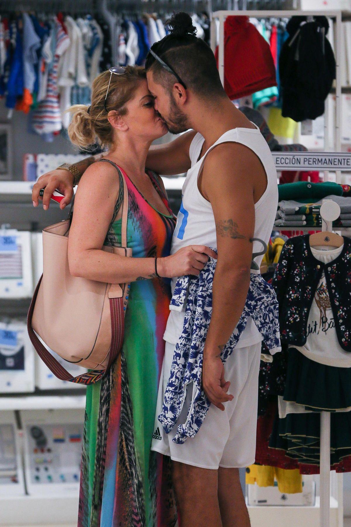 DANNIELLA WESTBROOK and Alan Thomason Out in Palma De Majorca 08/18/2017
