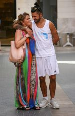 DANNIELLA WESTBROOK and Alan Thomason Out in Palma De Majorca 08/18/2017
