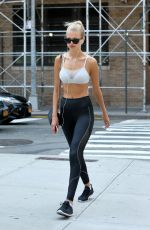 DAPHNE GROENEVELD in Tights Leaves Gym in New York 08/20/2017
