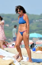 DAVINA MCCALL in Bikini on the Beach in St Tropez 08/27/2017