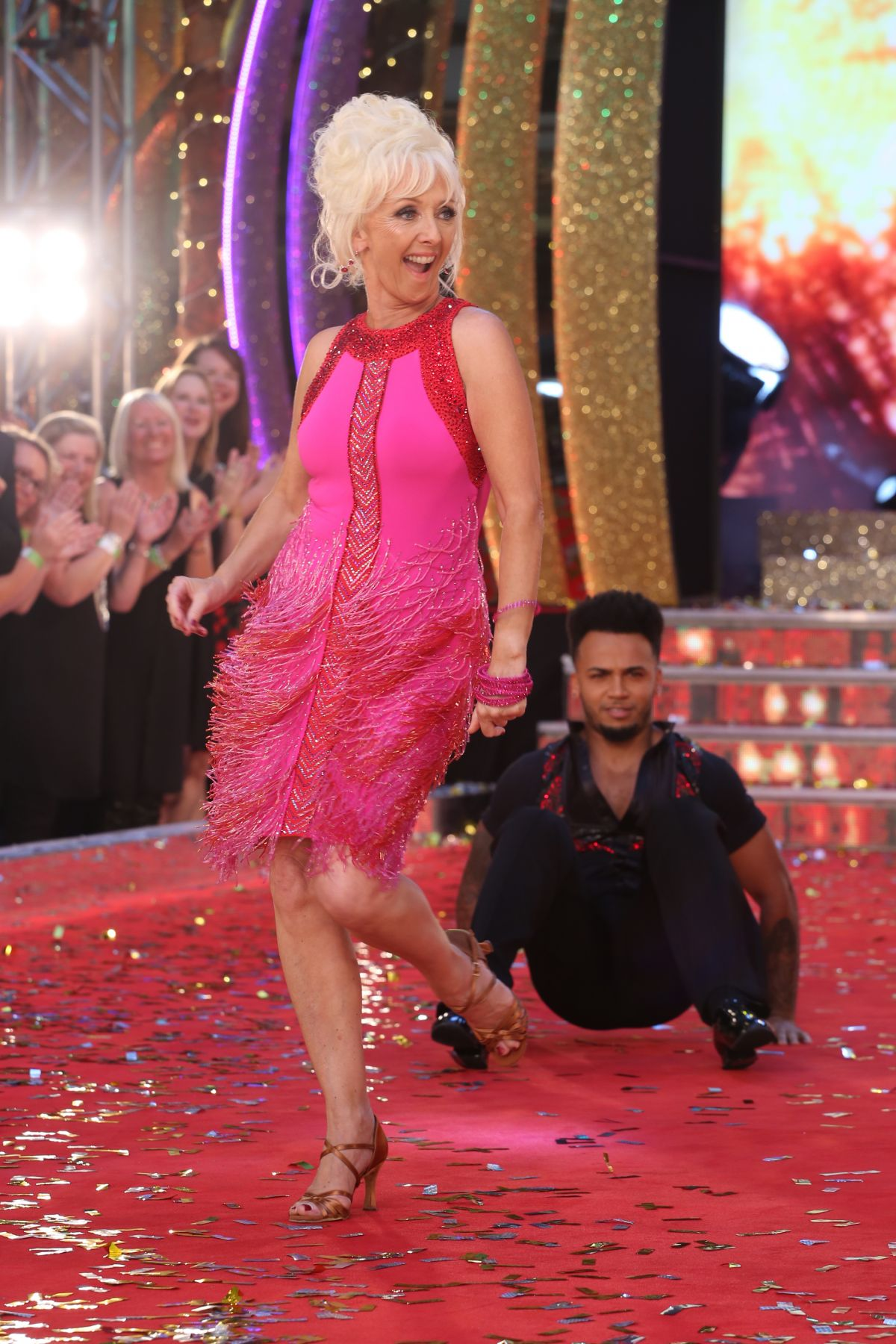 DEBBIE MCGEE at Strictly Come Dancing 2017 Launch in London 08/28/2017