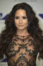DEMI LOVATO at 2017 MTV Video Music Awards in Los Angeles 08/27/2017