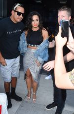 DEMI LOVATO Leaves Her Hotel in New York 08/19/2017