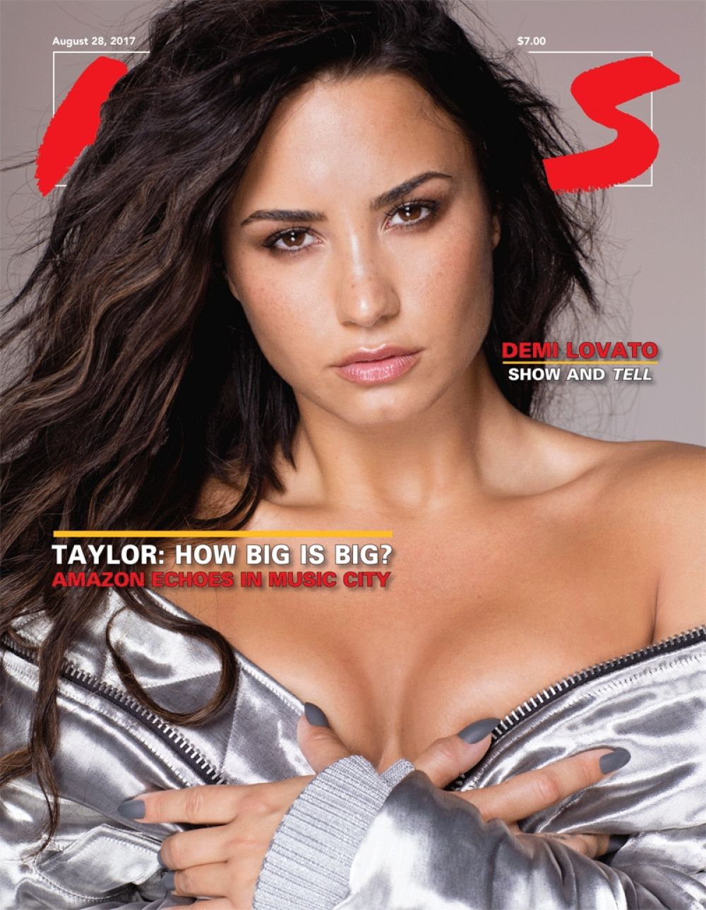 DEMI LOVATO on the Cover of Hits Daily Double Magazine, 08/28/2017