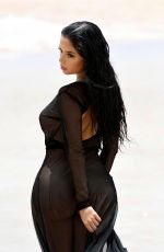 DEMI ROSE MAWBY on the Set of a Photoshoot on the Beach in Cape Verde 08/11/2017