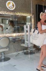 DENISE VAN OUTEN Arrives at Golden Tarts Hair Salon in Marbella 08/07/2017