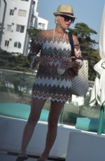 DENISE VAN OUTEN in Simsuit at Max Beach Club in Marbella 08/04/2017