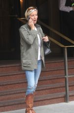 DENISE VAN OUTEN Leaves Westbury Hotel in Dublin 08/23/2017