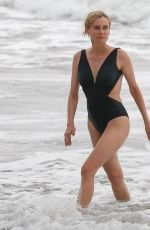 DIANE KRUGER in Swimsuit on the Beach in Costa Rica 08/10/2017