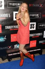 DOMINIQUE SWAIN at Sharknado 5: Global Swarming Premiere in Las Vegas 08/06/2017