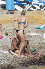 DOUTZEN KROES in Bikini at a Beach in Ibiza 08/15/2017