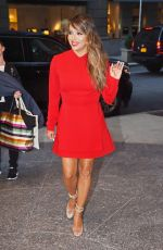 EA LONGORIA in Red Dress Out in New York 08/08/2017