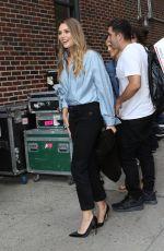 ELIZABETH OLSEN Arrives at Ed Sullivan Theater in New York 08/03/2017
