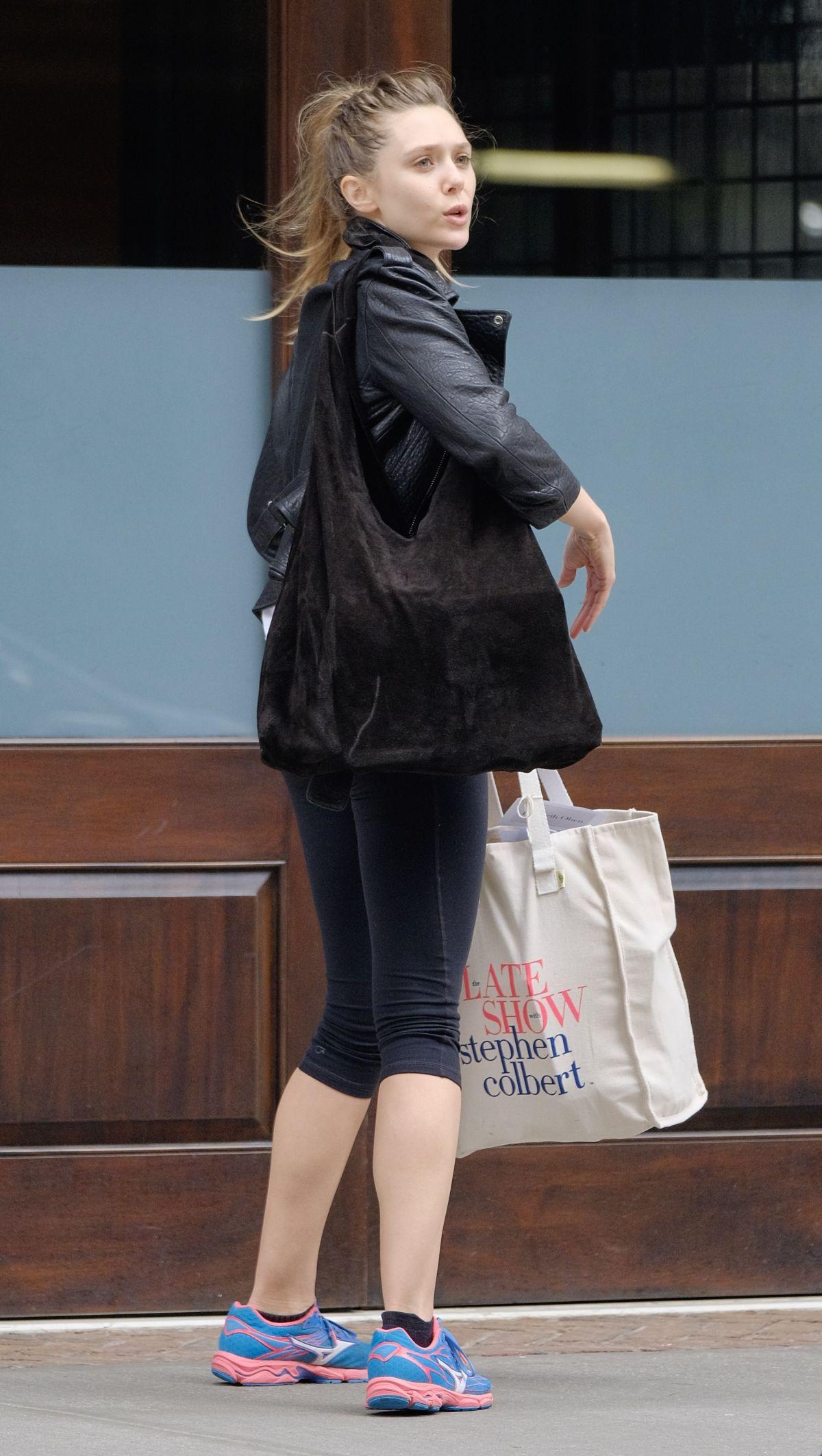 ELIZABETH OLSEN Arrives at Her Hotel in New York 08/05/2017