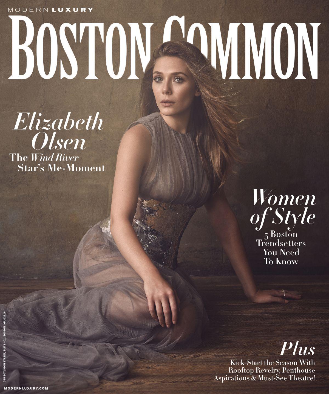 ELIZABETH OLSEN in Boston Common Magazine, Fall 2017