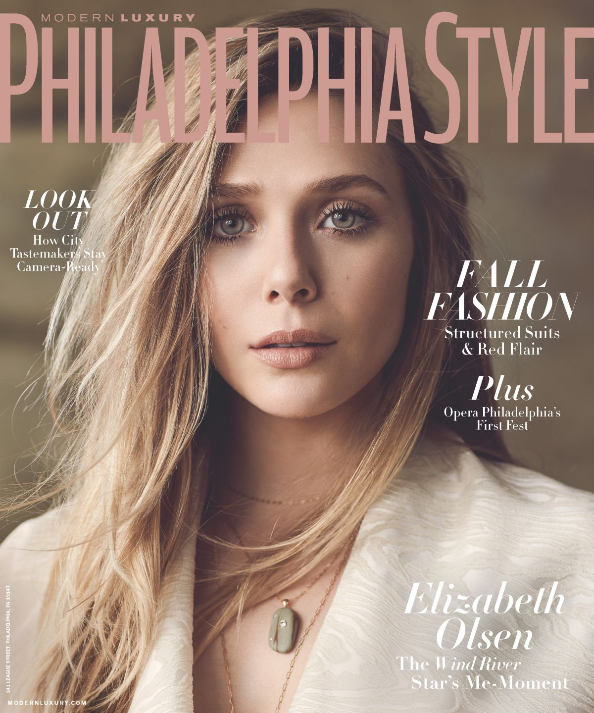 ELIZABETH OLSEN in Philadelphia Style Magazine, Fall 2017
