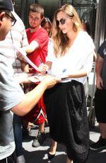 ELIZABETH OLSEN Leaves SiriusXM Studios in New York 07/31/2017