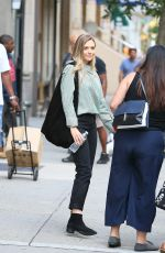 ELIZABETH OLSEN Out and About in New York 08/04/2017