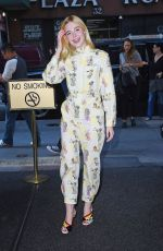 ELLE FANNING Arrives at Today Show in New York 08/30/2017