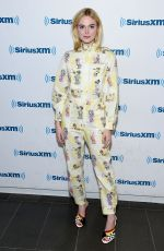 ELLE FANNING at SiriusXM Studio in New York 08/30/2017