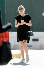 ELLE FANNING Our for Iced Coffee in New York 08/26/2017