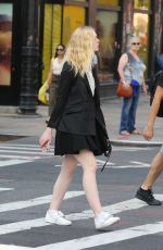 ELLE FANNING Out and About in New York 08/26/2017
