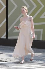 ELLE FANNING Out and About in New York 08/27/2017