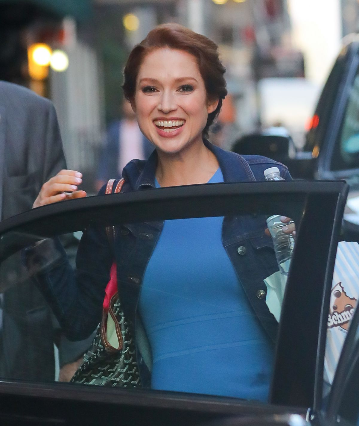 ELLIE KEMPER Leaves The Late Show with Stephen Colbert in New York 08/16/2017