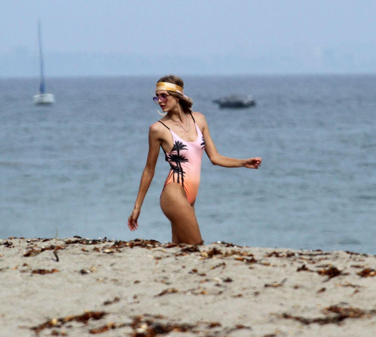 Elsa hosk posing in a bikini malibu - 2019 year