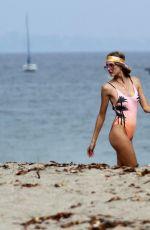 ELSA HOSK in Swimsuit on the Set of a Photoshoot in Malibu 0/02/2017