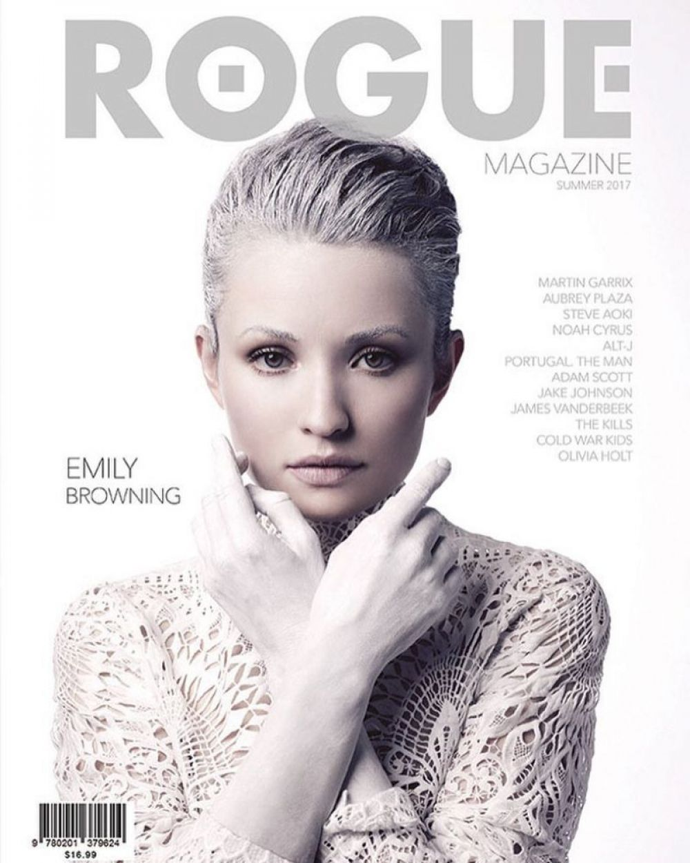 EMILY BROWNING for Rogue Magazine, Summer 2017
