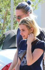 EMMA ROBERTS and Evan Peters Out in Malibu 08/19/2017