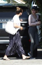 EMMA ROBERTS and LEA MICHELE Out in West Hollywood 08/17/2017
