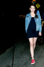 EMMA ROBERTS Leaves Chateau Marmont Hotel in West Hollywood 08/12/2017