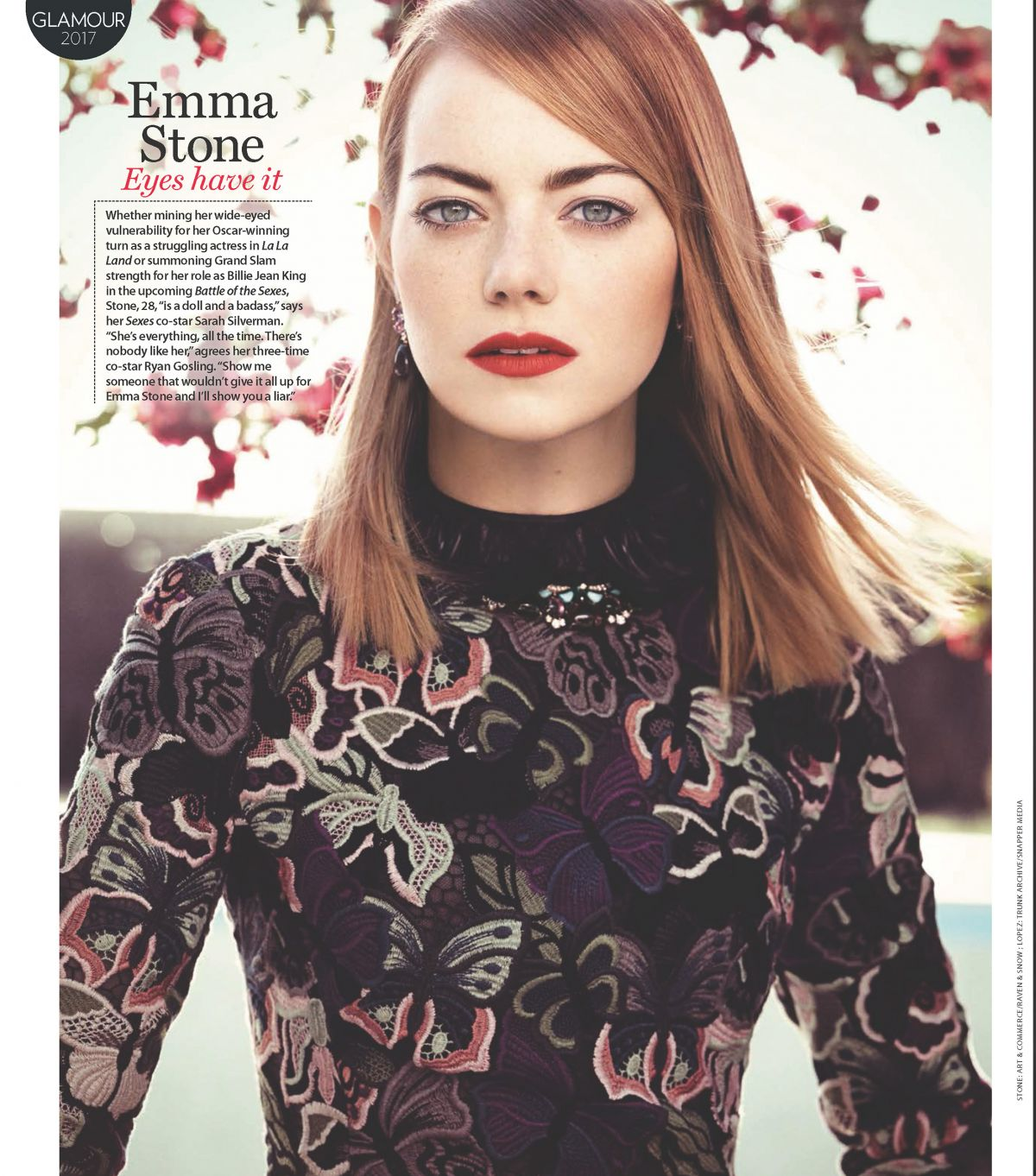 EMMA STONE for Who Magazine, Glamour Issue 2017