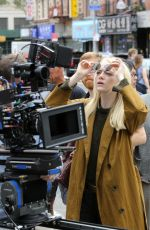 EMMA STONE on the Set of Maniac in New York 08/14/2017