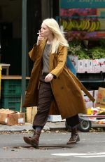 EMMA STONE on the Set of Maniac in New York 08/15/2017