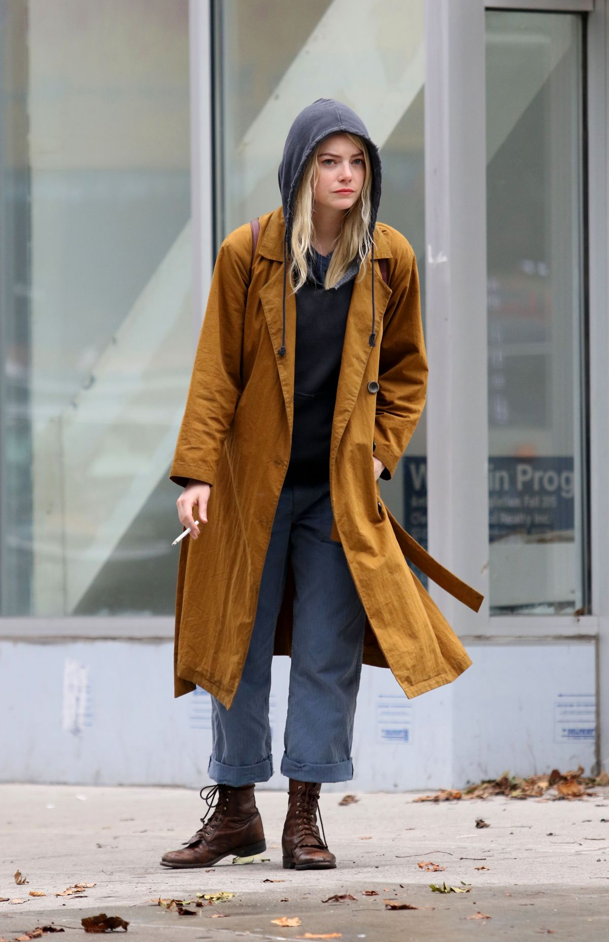 EMMA STONE on the Set of Netflix's Maniac in New York 08 ... Emma Stone Maniac