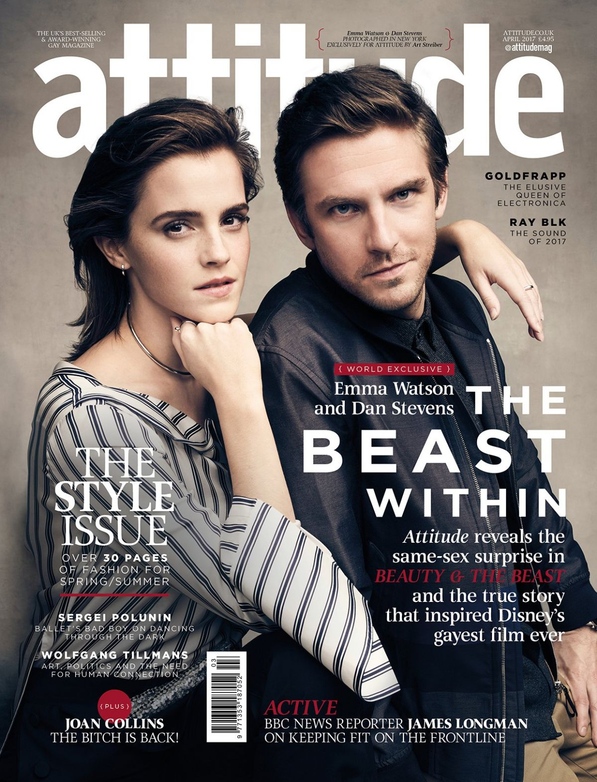 EMMA WATSON and Dan Stevens for Attitude Magazine, April 2017